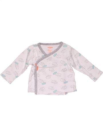 Long sleeve T-shirt girl HEMA white 3 months winter #28318_1