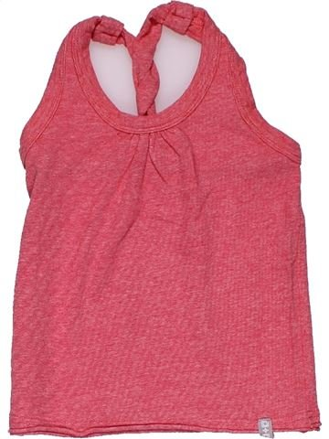 Sleeveless T-shirt girl LITTLE LABEL DELUXE pink 2 years summer #28334_1