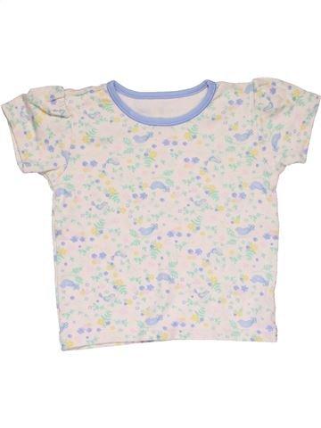 Short sleeve T-shirt girl NUTMEG white 2 years summer #28400_1