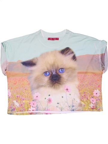 Short sleeve blouse girl YD blue 12 years summer #28609_1