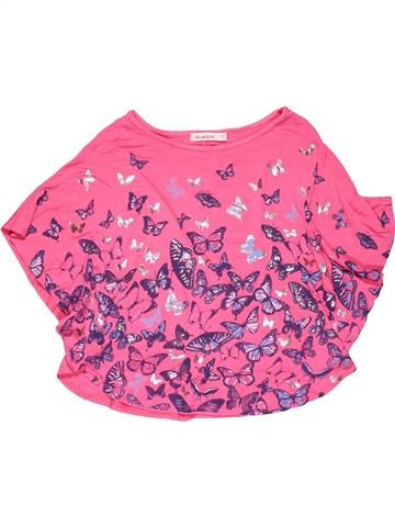 Short sleeve blouse girl BLUEZOO pink 9 years summer #28707_1