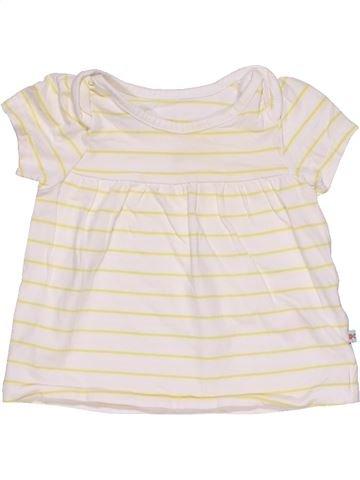 Short sleeve T-shirt girl MOTHERCARE white 6 months summer #28717_1