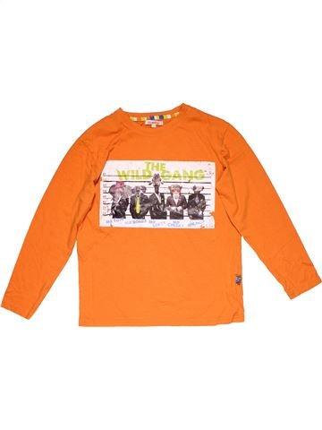 Long sleeve T-shirt boy BLUEZOO orange 10 years winter #28795_1