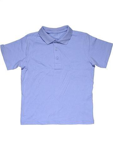 Short sleeve polo shirt boy SCHOOL LIFE purple 7 years summer #28924_1