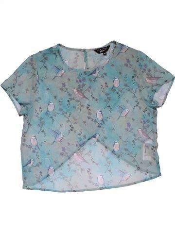 Short sleeve T-shirt girl NEW LOOK blue 11 years summer #29088_1