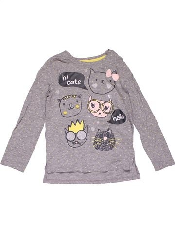 Long sleeve blouse girl M&CO purple 6 years winter #29240_1