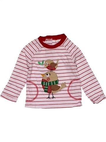 Long sleeve T-shirt girl M&CO pink 12 months winter #29419_1