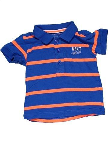 Short sleeve T-shirt boy NEXT blue 9 months summer #29443_1