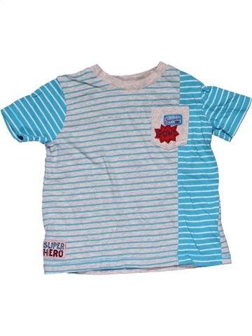 Short sleeve T-shirt boy F&F blue 18 months summer #29468_1
