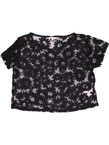 Short sleeve blouse girl MISS E-VIE dark blue 14 years summer #29649_1