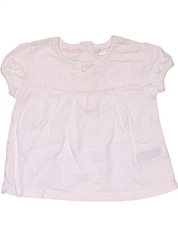 Short sleeve T-shirt girl NEXT white 6 months summer #29755_1