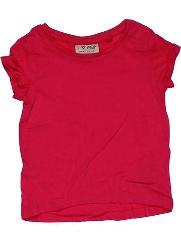 Short sleeve T-shirt girl NEXT red 9 months summer #29795_1
