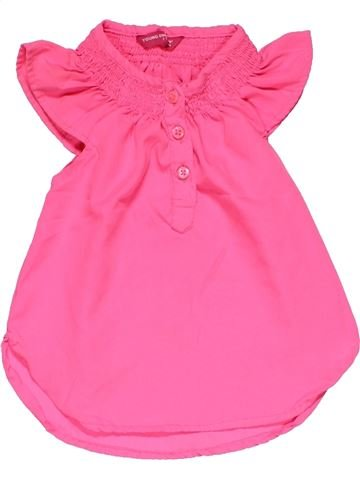 Short sleeve blouse girl YOUNG DIMENSION pink 3 years summer #29886_1