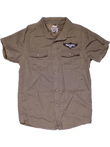 Short sleeve shirt boy PRIMARK brown 12 years summer #29958_1