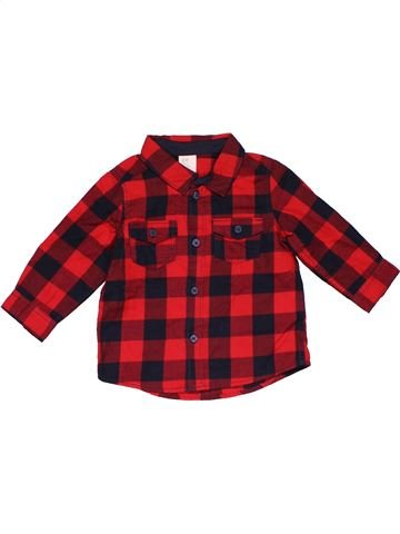 Long sleeve shirt boy H&M red 6 months winter #30005_1