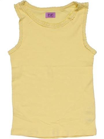 Sleeveless T-shirt girl F&F beige 6 years summer #30006_1