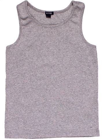Sleeveless T-shirt girl KIABI gray 4 years summer #30035_1