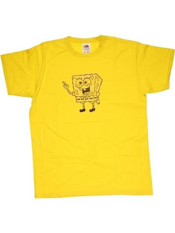 Short sleeve T-shirt boy FRUIT OF THE LOOM yellow 12 years summer #30391_1