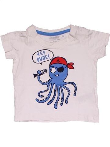 Short sleeve T-shirt boy LUPILU white 12 months summer #31117_1