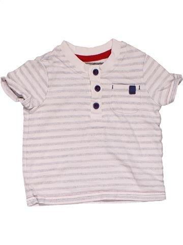 Short sleeve polo shirt boy GEORGE white 6 months summer #31218_1