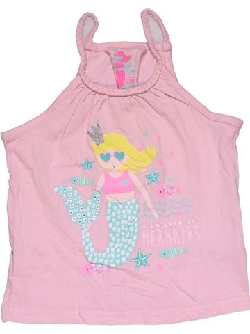 Sleeveless T-shirt girl YOUNG DIMENSION pink 6 years summer #31260_1