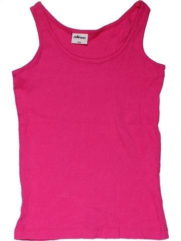 Sleeveless T-shirt girl ALIVE pink 10 years summer #31361_1