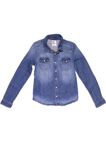 Long sleeve blouse girl DENIM blue 9 years summer #31476_1