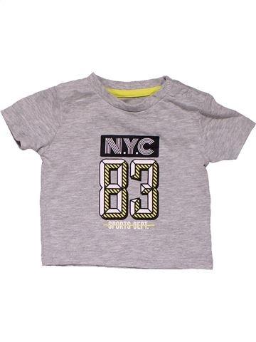 Short sleeve T-shirt boy REBEL gray 3 months summer #31574_1