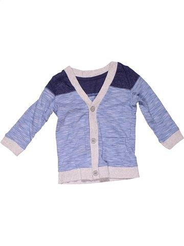 Sweatshirt boy GEORGE gray 12 months winter #31624_1