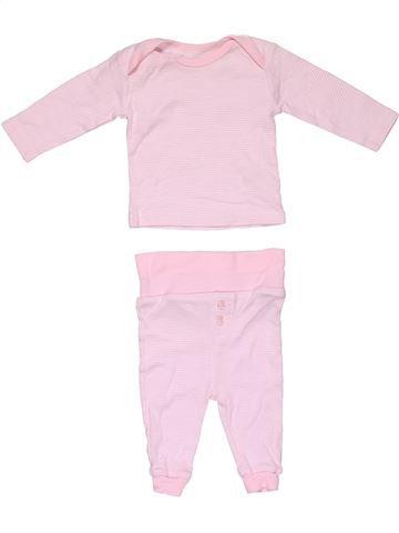 2 pieces Pyjama girl NO BRAND pink 3 months winter #31652_1