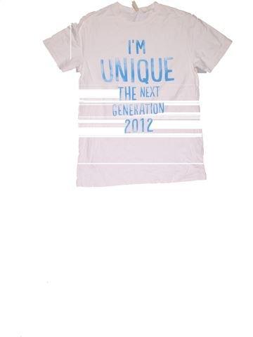 Short sleeve T-shirt boy NEXT white 11 years summer #31791_1