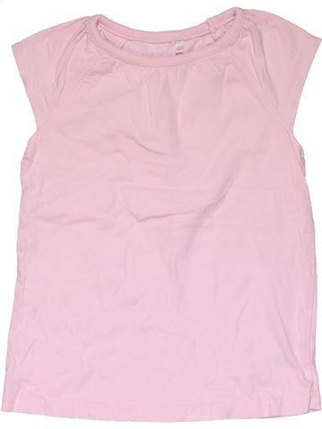 Short sleeve T-shirt girl GEORGE pink 4 years summer #31973_1