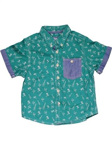 Short sleeve shirt boy VINTAGE HAWAII green 3 years summer #31983_1
