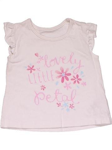 Short sleeve T-shirt girl GEORGE white 3 months summer #32115_1