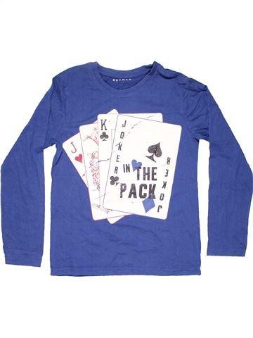 Long sleeve T-shirt boy NUTMEG blue 11 years summer #5852_1