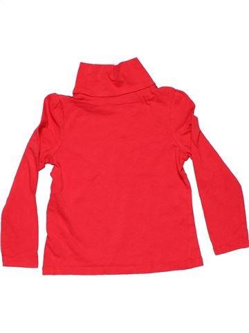 Turtleneck T-shirt girl PALOMINO red 4 years winter #6487_1