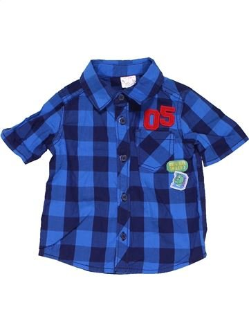 Short sleeve polo shirt boy F&F blue 6 months summer #683_1