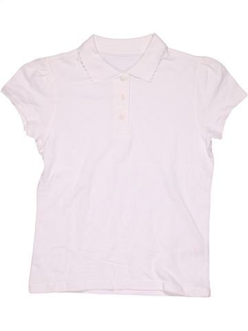 Short sleeve polo shirt girl GEORGE white 11 years summer #7610_1