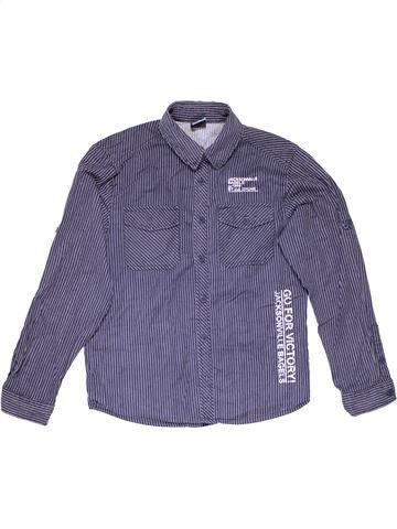 Long sleeve shirt boy DOGNOSE blue 12 years winter #808_1