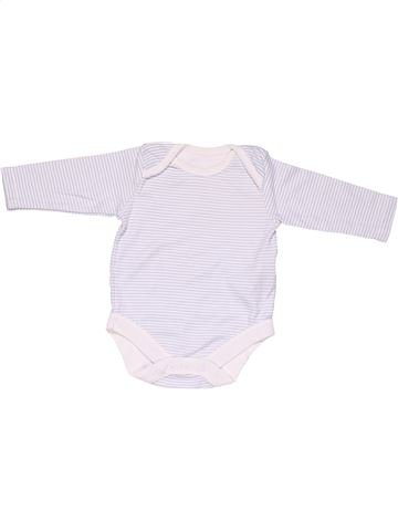 Long jumpsuit unisex BABY white 3 months winter #8285_1