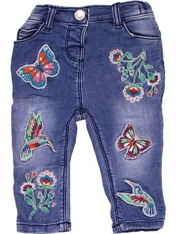 Jeans girl MATALAN blue 9 months summer #9244_1